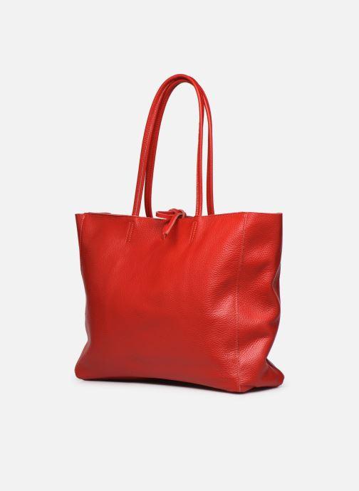 Borse Georgia Rose Miki Leather Rosso modello indossato
