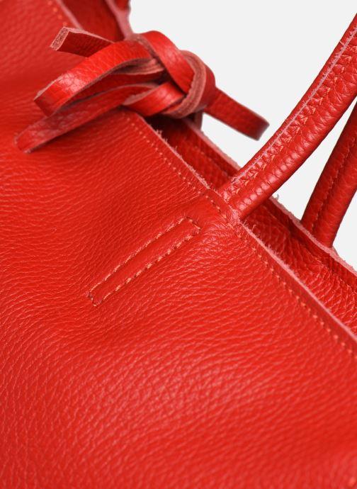Sacs à main Georgia Rose Miki Leather Rouge vue gauche