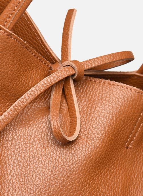 Bolsos de mano Georgia Rose Miki Leather Marrón vista lateral izquierda