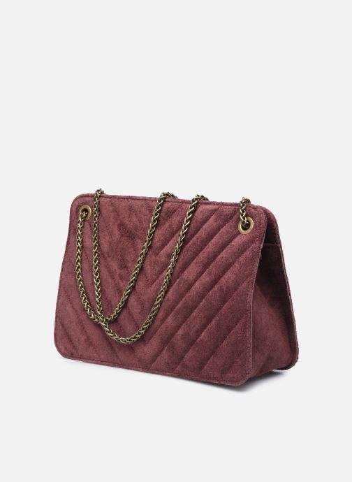 Handtaschen Georgia Rose Marco Leather lila ansicht von rechts