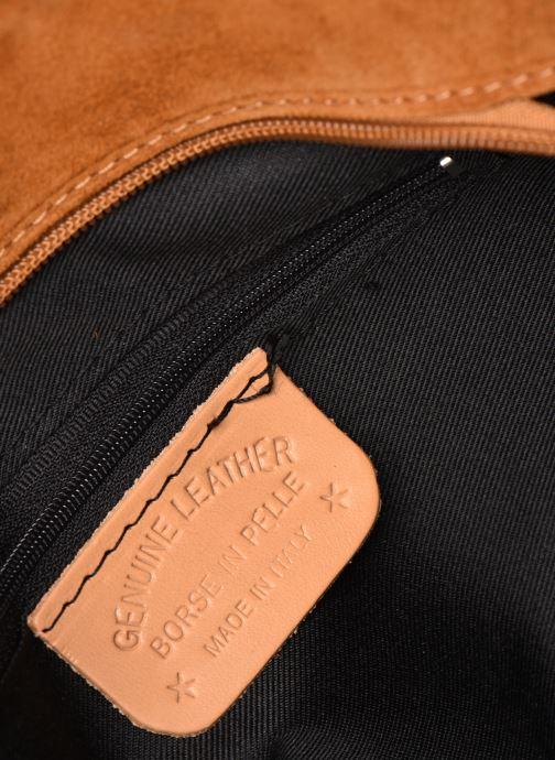 Handtassen Georgia Rose Mina Leather Bruin achterkant
