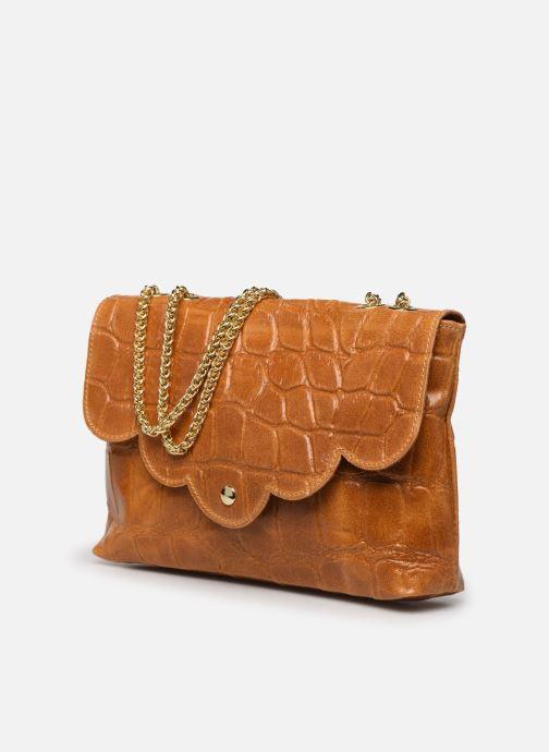 Bolsos de mano Georgia Rose Mala Leather Marrón vista del modelo
