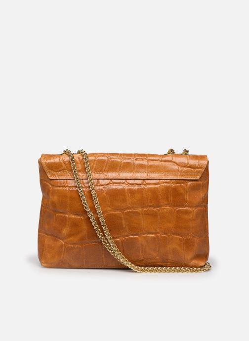 Bolsos de mano Georgia Rose Mala Leather Marrón vista de frente