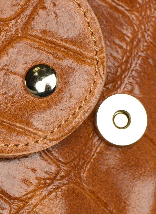 Bolsos de mano Georgia Rose Mala Leather Marrón vista lateral izquierda