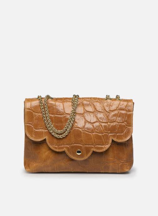 Bolsos de mano Georgia Rose Mala Leather Marrón vista de detalle / par
