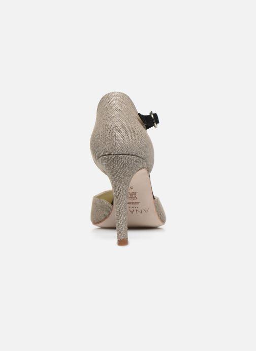 Zapatos de tacón Anaki BARRA Beige vista lateral derecha