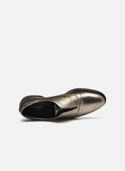 Zapatos con cordones Anaki OTTO Oro y bronce vista lateral izquierda