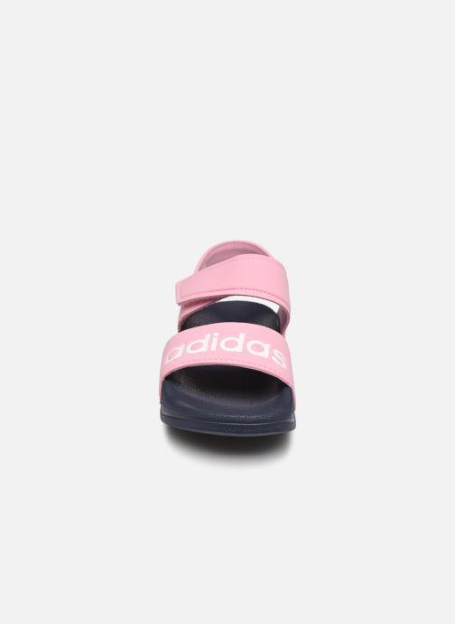 Sandales et nu-pieds adidas performance Adilette Sandal K Rose vue portées chaussures