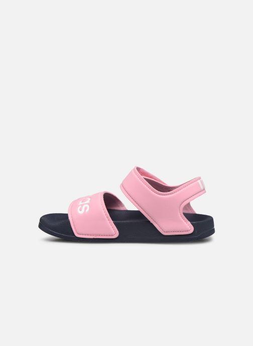 Sandales et nu-pieds adidas performance Adilette Sandal K Rose vue face