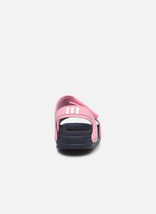 Sandales et nu-pieds adidas performance Adilette Sandal K Rose vue droite