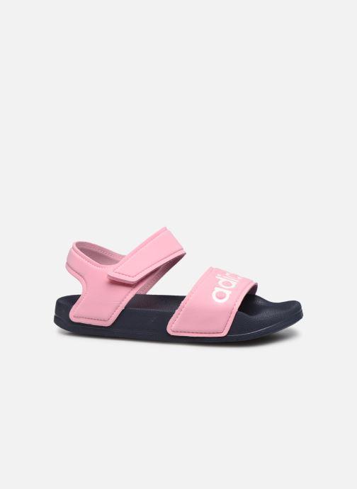 Sandales et nu-pieds adidas performance Adilette Sandal K Rose vue derrière