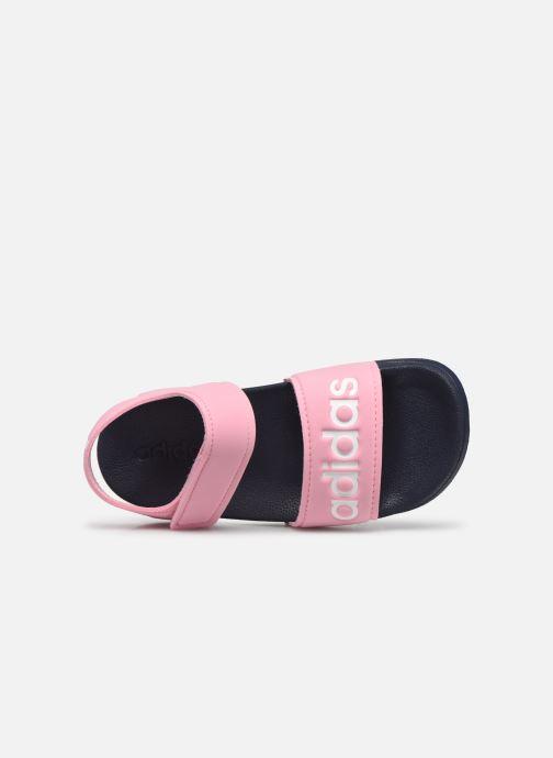 Sandales et nu-pieds adidas performance Adilette Sandal K Rose vue gauche