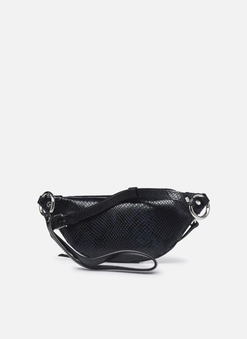 Handtaschen Rebecca Minkoff Mini Sling Python blau ansicht von vorne