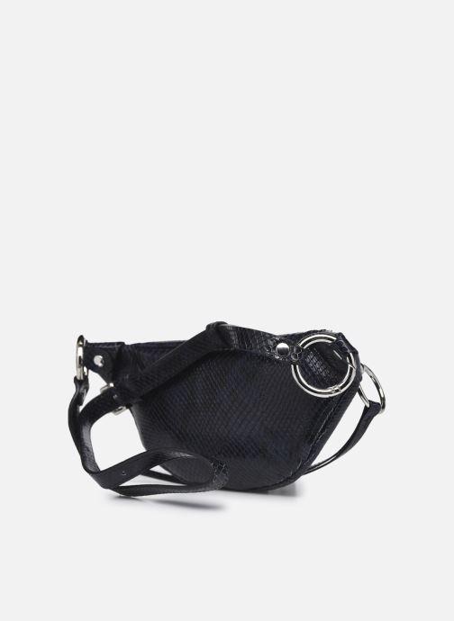 Handtaschen Rebecca Minkoff Mini Sling Python blau ansicht von rechts