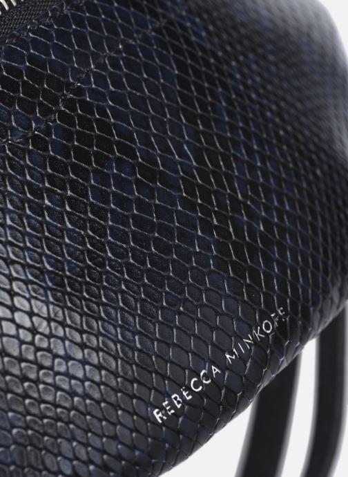 Handtaschen Rebecca Minkoff Mini Sling Python blau ansicht von links