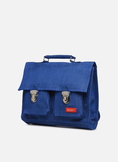 Bandoleras y Colegio Bakker Made With Love CARTABLE MINI BRETELLES jean Azul vista del modelo