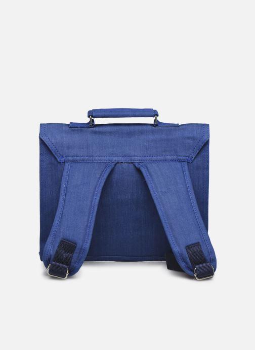 Bandoleras y Colegio Bakker Made With Love CARTABLE MINI BRETELLES jean Azul vista de frente