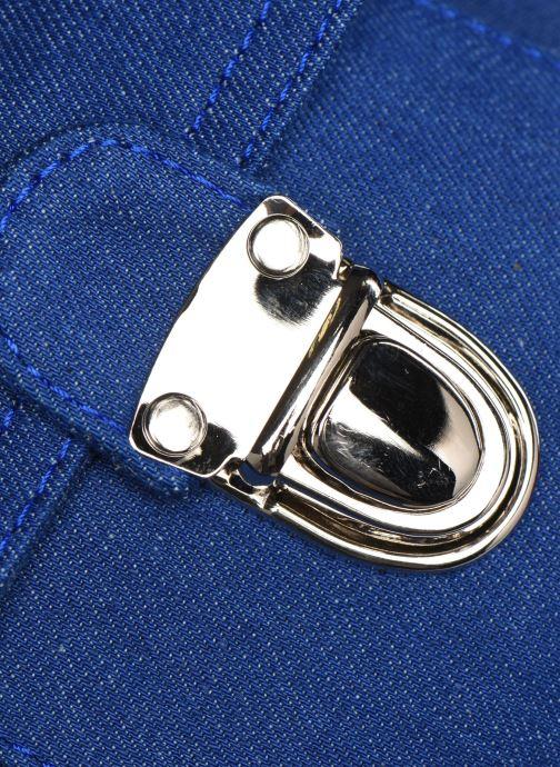 Bandoleras y Colegio Bakker Made With Love CARTABLE MINI BRETELLES jean Azul vista lateral izquierda