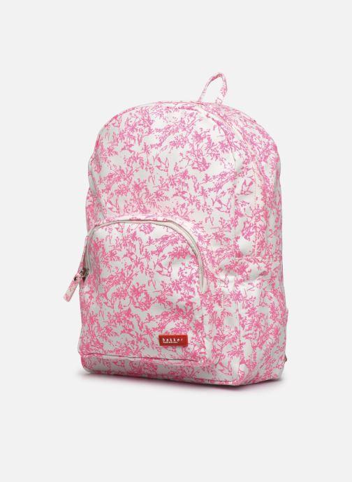 Per la scuola Bakker Made With Love BACKPACK GRAND canvas bakker Rosa modello indossato