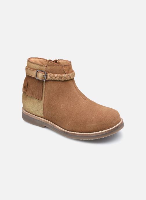 Bottines et boots Rose et Martin KETALLIC LEATHER Marron vue détail/paire