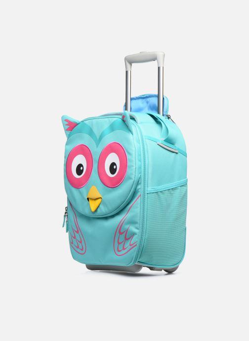 Bagages Affenzahn Olivia Owl Kids Suitcase Bleu vue portées chaussures