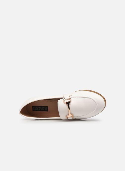 Mocassini I Love Shoes WOSSIN Bianco immagine sinistra