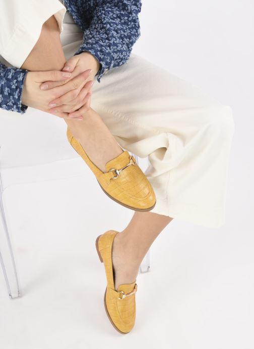 Mocassins I Love Shoes WOSSIN Jaune vue bas / vue portée sac