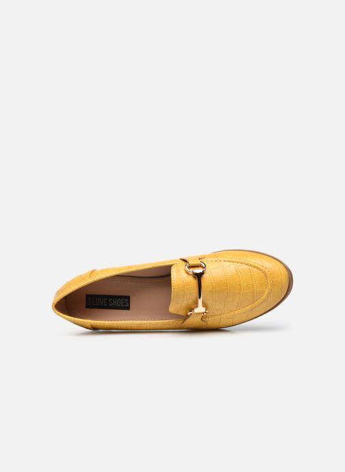 Mocassins I Love Shoes WOSSIN Jaune vue gauche