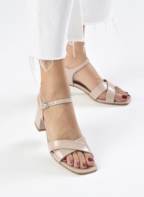 Sandales et nu-pieds Georgia Rose Dorine Rose vue bas / vue portée sac