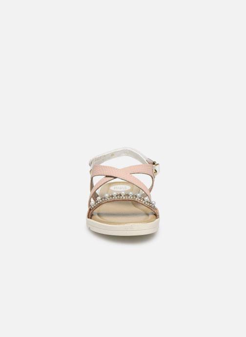 Sandalen Gioseppo 43439 rosa schuhe getragen