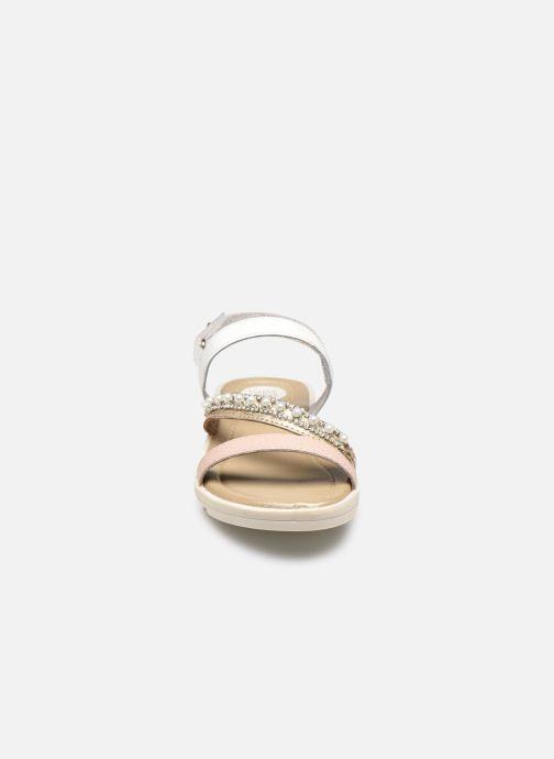 Sandalen Gioseppo 43633 rosa schuhe getragen