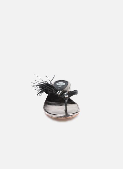 Zehensandalen Gioseppo 45302 schwarz schuhe getragen