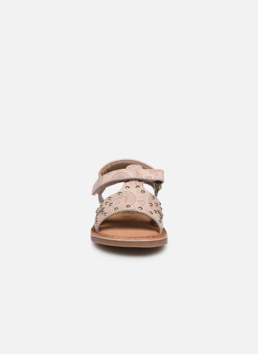 Sandalen Gioseppo 47103 rosa schuhe getragen