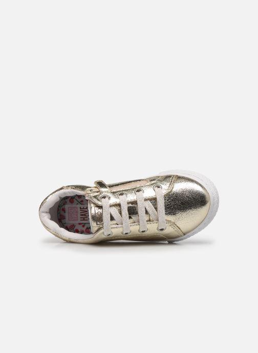 Sneaker Gioseppo 48126 gold/bronze ansicht von links