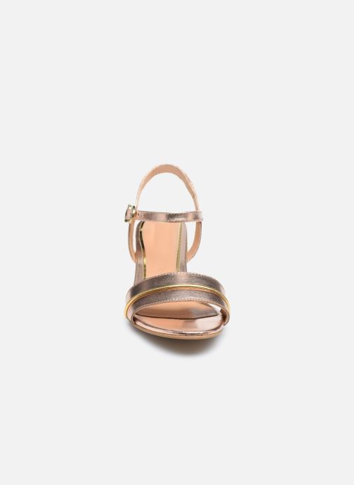 Sandalen Gioseppo 48308 gold/bronze schuhe getragen