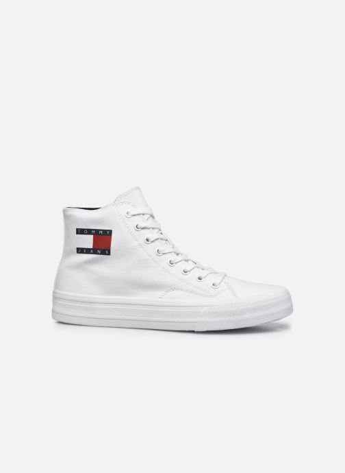 Sneakers Tommy Hilfiger MIDCUT LACE UP VULC Wit achterkant