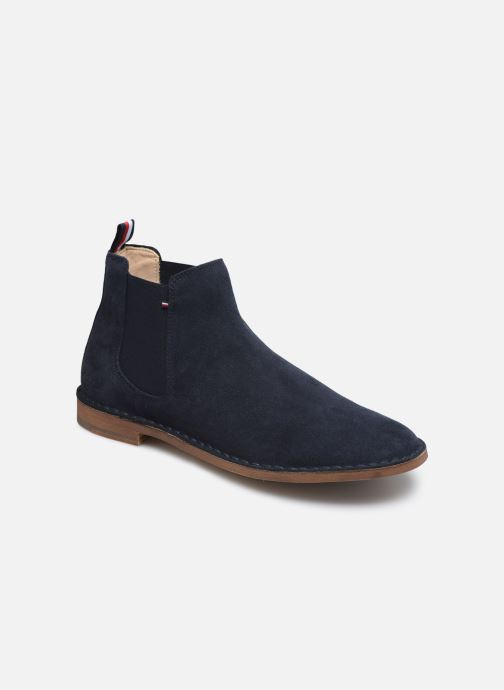 Botines  Tommy Hilfiger TH DRESS CASUAL SUEDE CHELSEA Azul vista de detalle / par