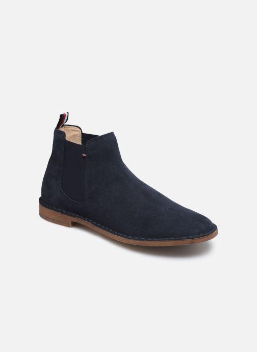 Bottines et boots Tommy Hilfiger TH DRESS CASUAL SUEDE CHELSEA Bleu vue détail/paire