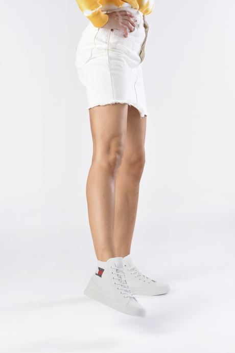 Sneakers Tommy Hilfiger WMNS MID CUT LACE UP VULC Wit onder