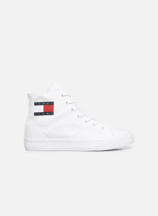 Sneakers Tommy Hilfiger WMNS MID CUT LACE UP VULC Wit achterkant