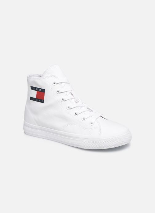 Sneakers Tommy Hilfiger WMNS MID CUT LACE UP VULC Wit detail