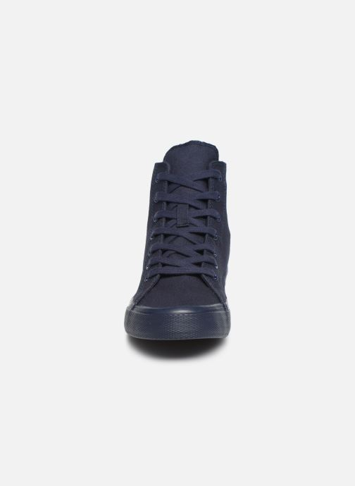 Sneakers Tommy Hilfiger WMNS MID CUT LACE UP VULC Blauw model