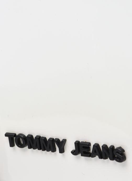 Bolsos de mano Tommy Hilfiger TJW NEW GEN SATCHEL METALLIC Blanco vista lateral izquierda