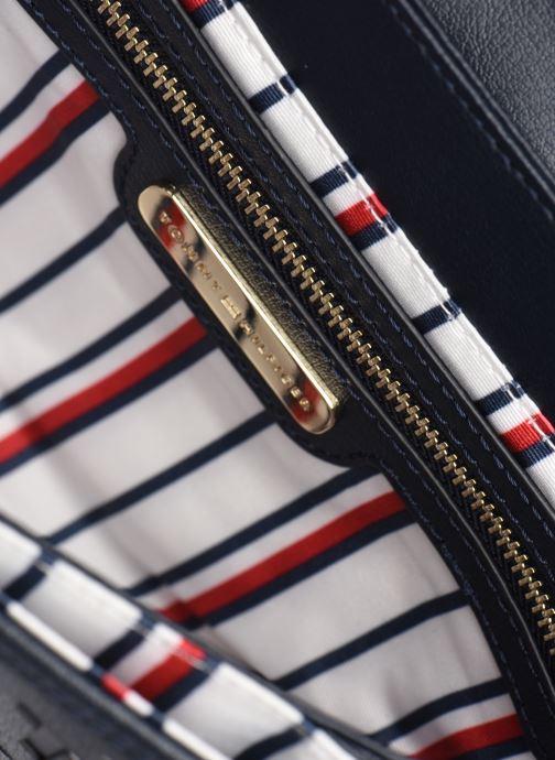 Handtaschen Tommy Hilfiger TURNLOCK LEATHER CROSSOVER CUT OUT MONO blau ansicht von hinten