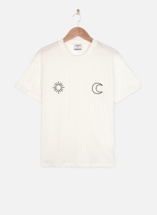Vêtements Made by SARENZA Sarenza x Côme Editions Tee-Shirt Blanc vue portées chaussures