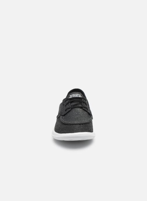 Chaussures à lacets Skechers GO WALK LITE/COAST Gris vue portées chaussures