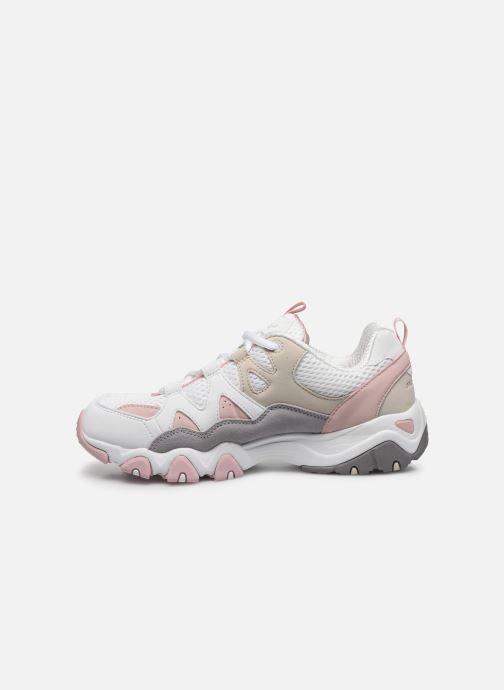 Chaussures de sport Skechers D'LITES 2/TOP DOWN Rose vue face