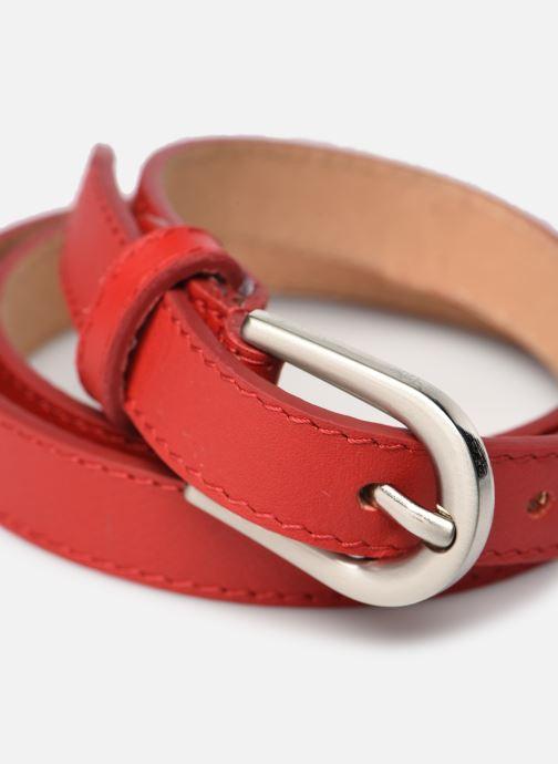 Cinture I Love Shoes LIBELT LEATHER Rosso modello indossato