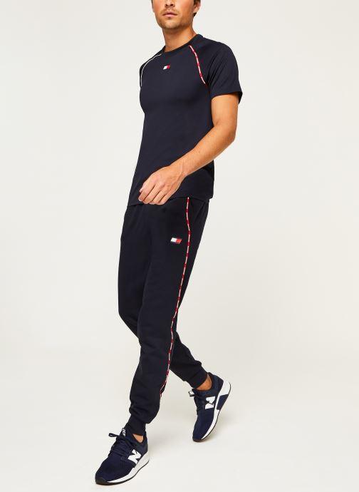 Vêtements Tommy Sport Piping Training Top Bleu vue bas / vue portée sac