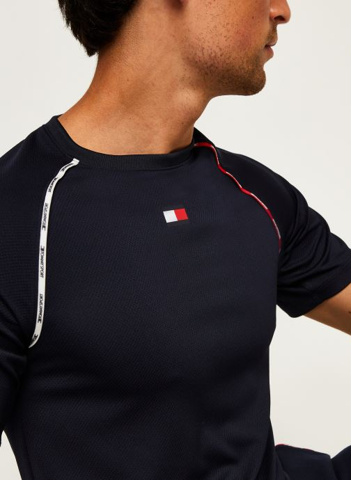 Vêtements Tommy Sport Piping Training Top Bleu vue face